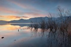 """""""Tramonto autunnale"""" Germignaga. Lago Maggiore, provincia di Varese."""